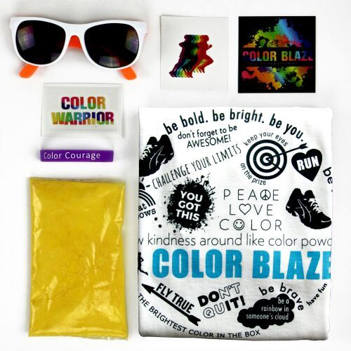 Colored powder race kits