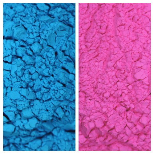 Gender Reveal Color Powder Sample
