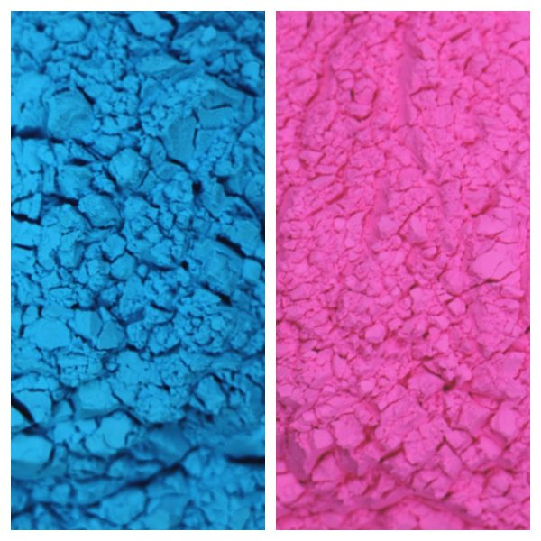 Gender Reveal Color Powder Sample