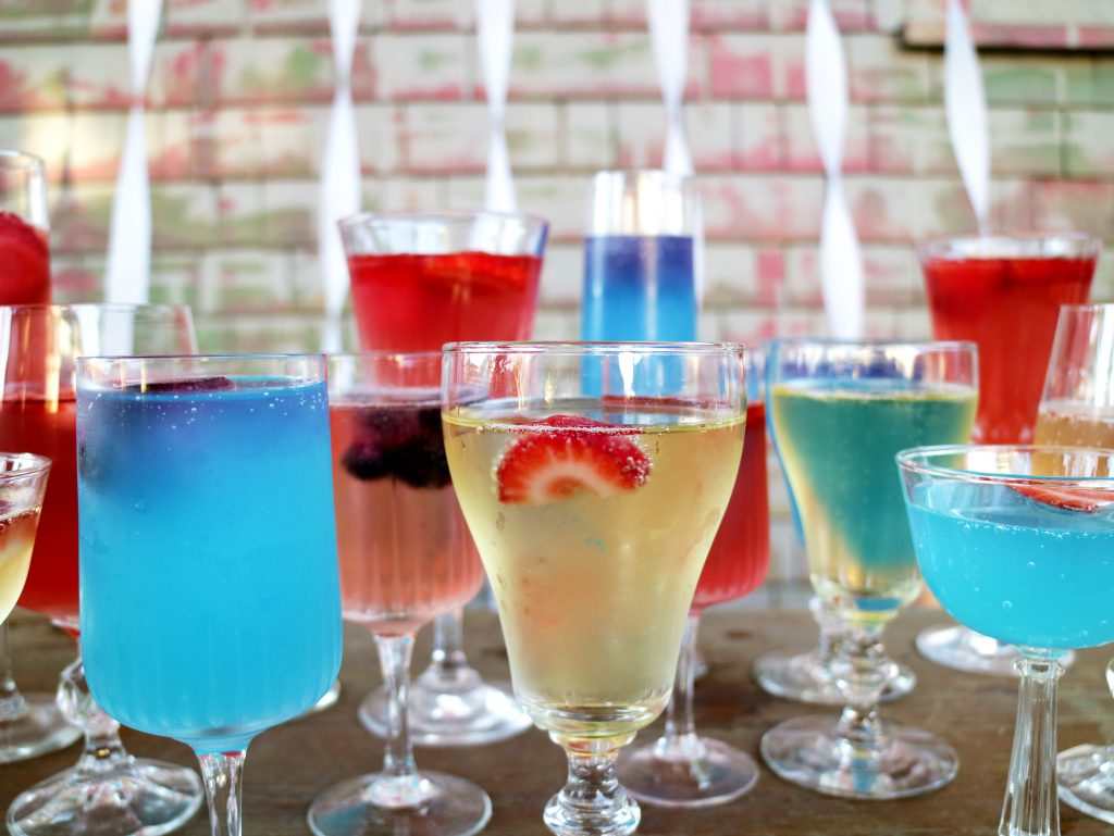 Baby Boy Gender Reveal Party drinks