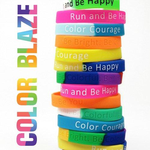 color Blaze Inspirational Bracelets- 1 Dozen - FREE shipping