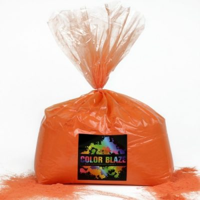 bulk orange color powder