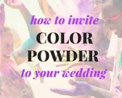 color powder wedding photo