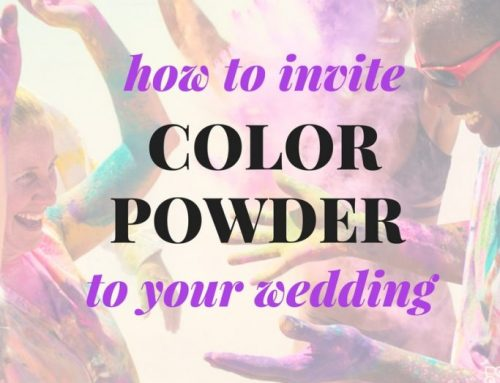 Arrange A Color Powder Wedding Rehearsal