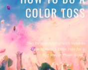 People throwing color powder at a color race
