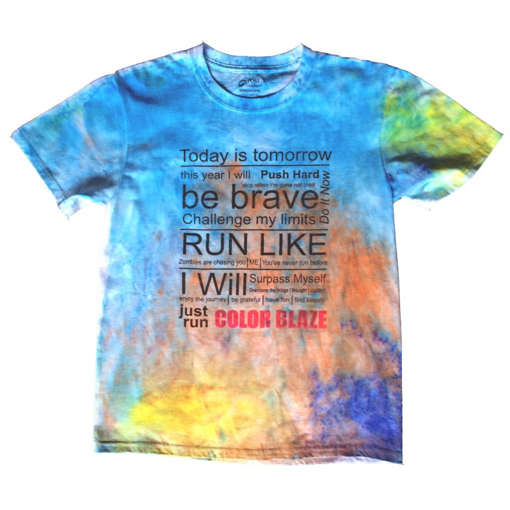 How To Make Color Powder Stay In Your Race Shirt Forever