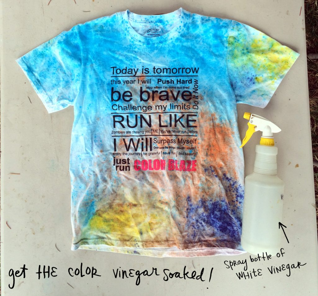 How To Make Color Powder Stay In Your Race Shirt With Vinegar