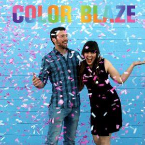 Gender Reveal Pink Confetti Sticks