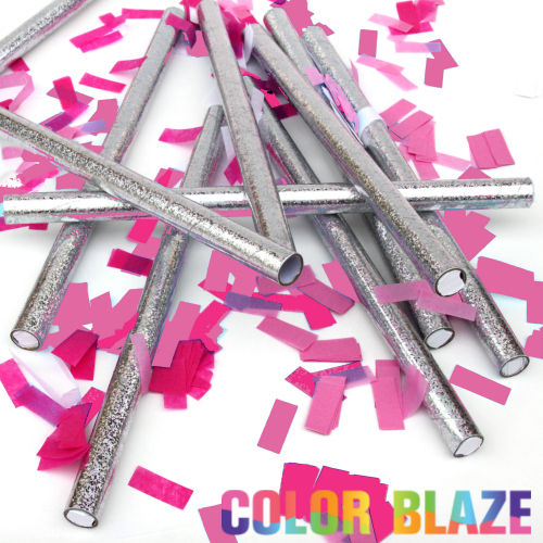 Gender Reveal Pink confetti sticks