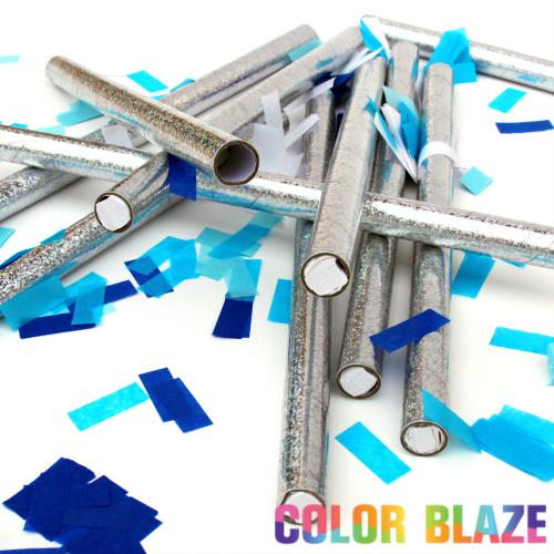 Gender Reveal Blue Confetti Sticks