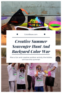 color powder party flyer image