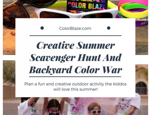 Color Powder Party Scavenger Hunt And Backyard Color War