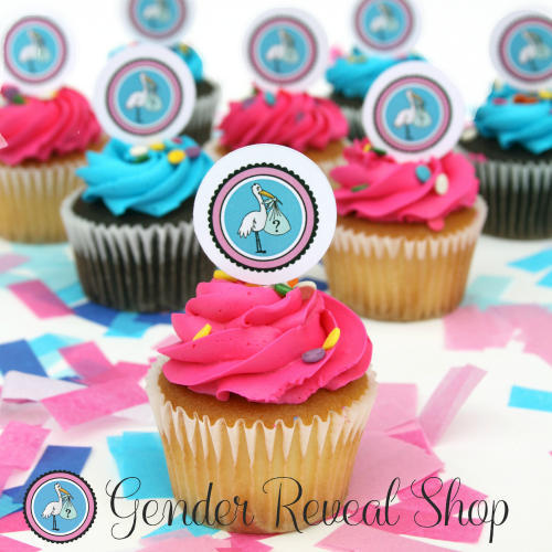 Gender Reveal Cupcake Topper