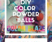picture of a color party with powder