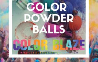 DIY Color Powder Balls