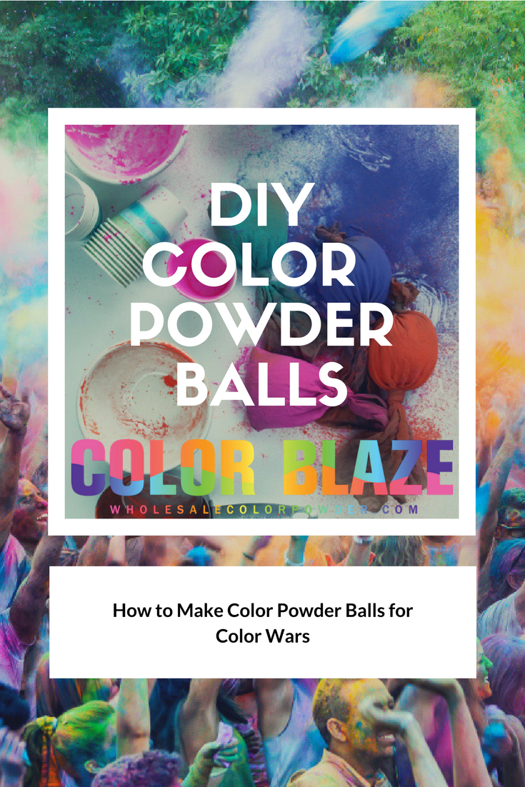 DIY Color Powder Balls