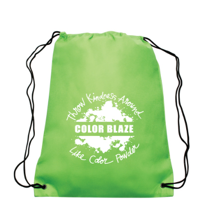 color blaze drawstring bag green