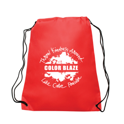 Color Blaze Drawstring Bag Red