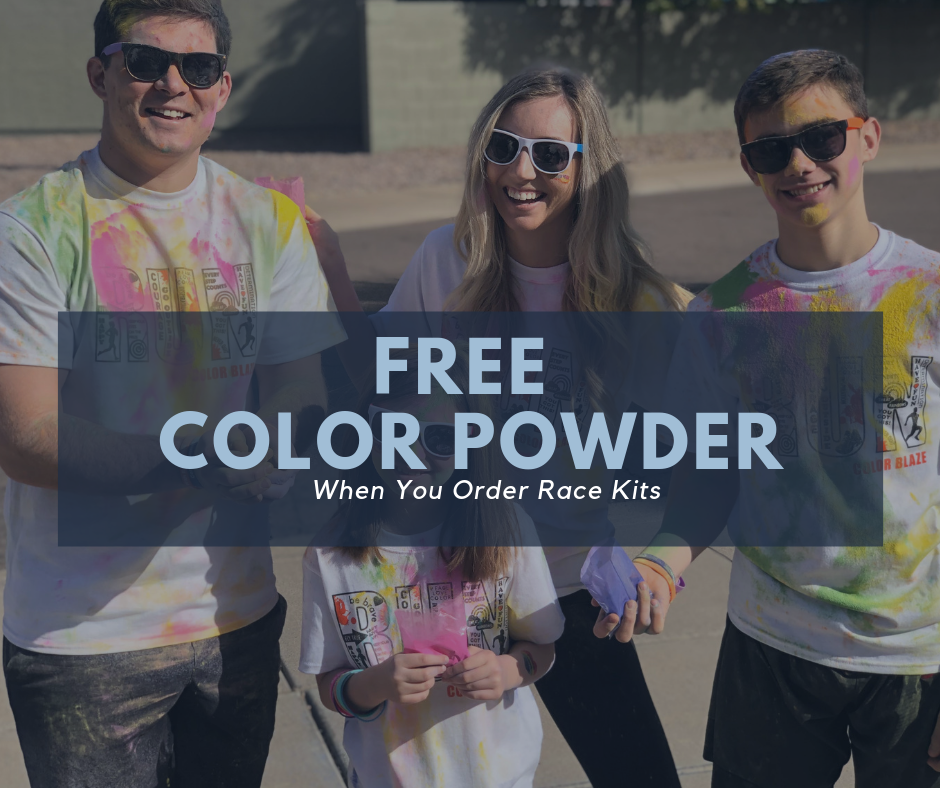 Free Color Powder When You Order Race Kits