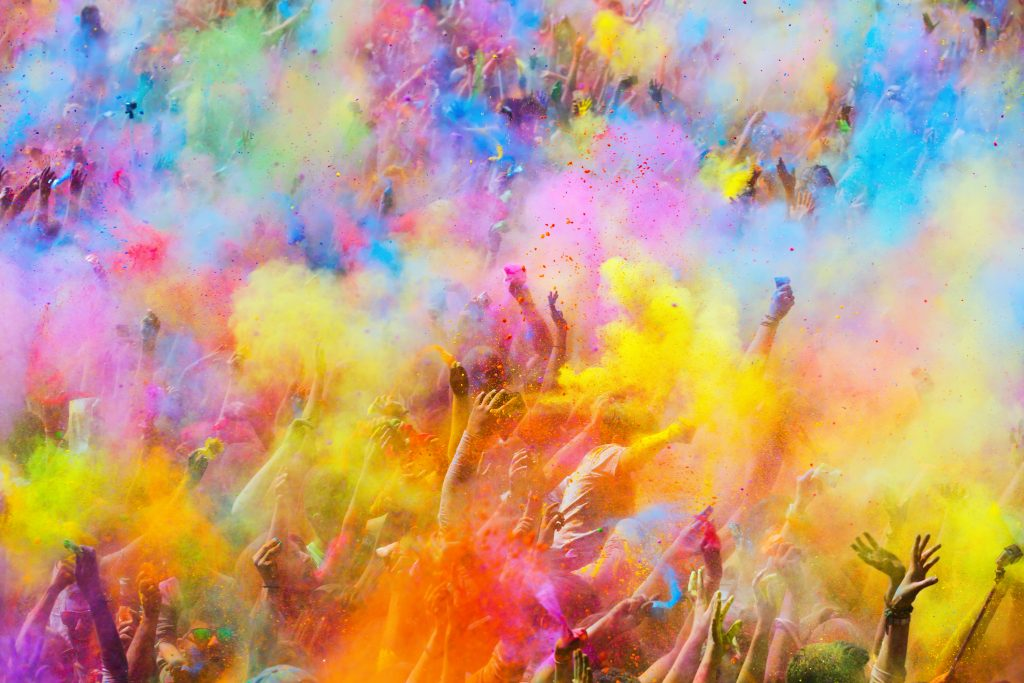 Holi Festival cloud of colors