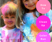 colored powder cleanup