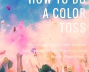 Color Powder Photo Shoot