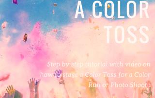 Color Powder Photo Shoot