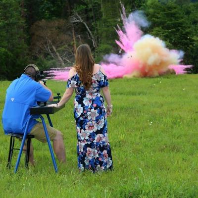 Pink Gender Reveal Explosion