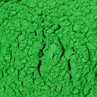 Color Blaze Green Color Powder Sample