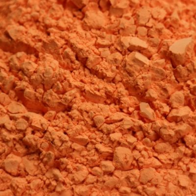 Color Blaze Orange Color Powder Sample