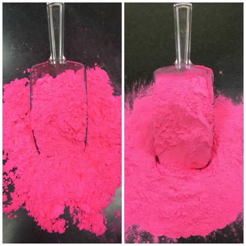compare diy pink color powder