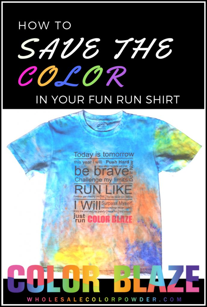 How To Make Color Powder Stay In Your Race Shirt