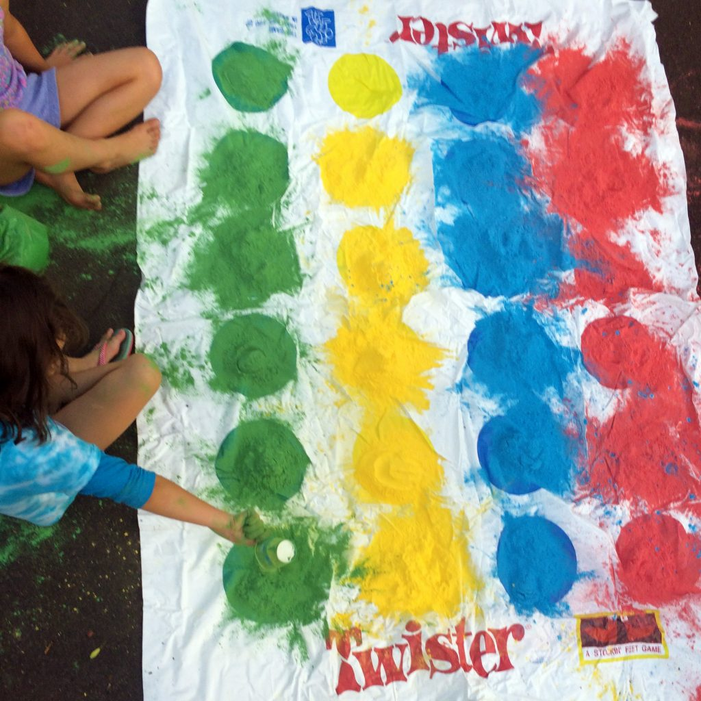 Color Powder fun with Twister