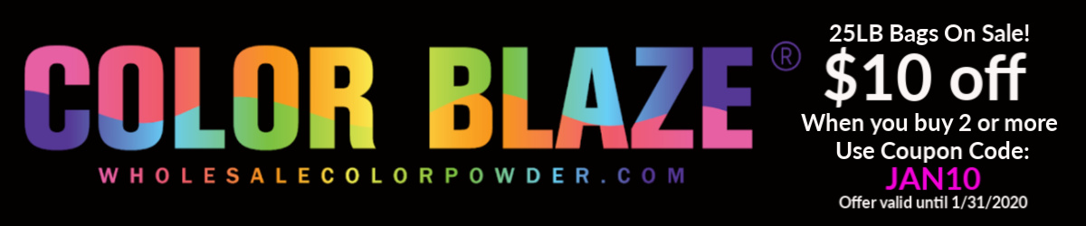 Color Blaze Wholesale Color Powder Logo