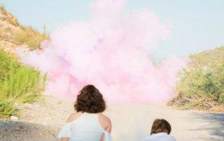 baby pink powder