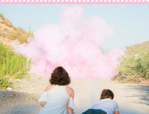 Baby Gender Reveal With Pink Color Powder And Tannerite
