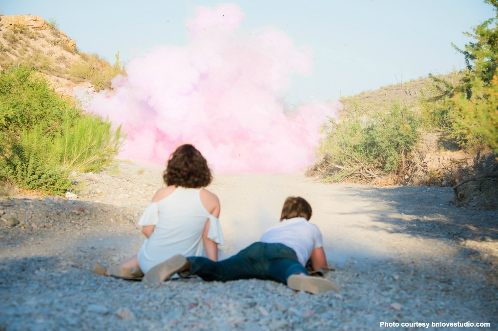 pink gender reveal powder image