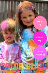 how to clean up color powder