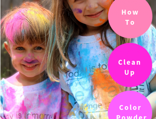 How To Clean Up Colorful Fun Run Powder & Powdered Paint