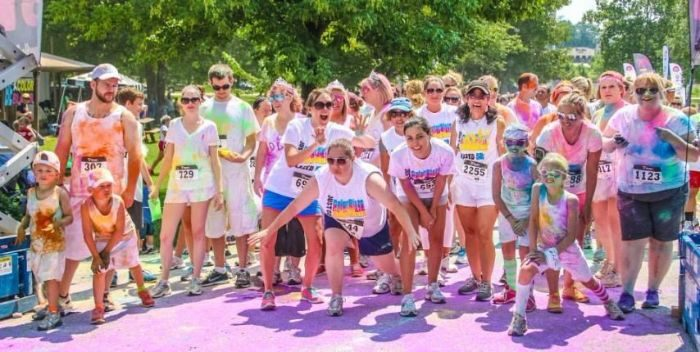 color fun run for charity
