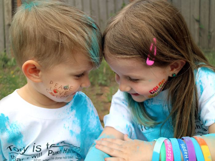 color powder party games photo