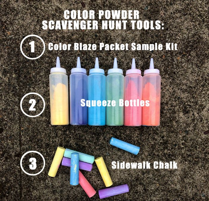 color powder party race kit picture