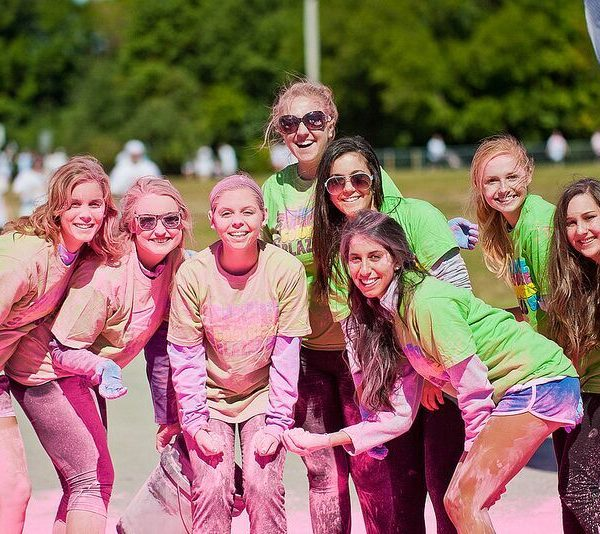 color powder run banner picture