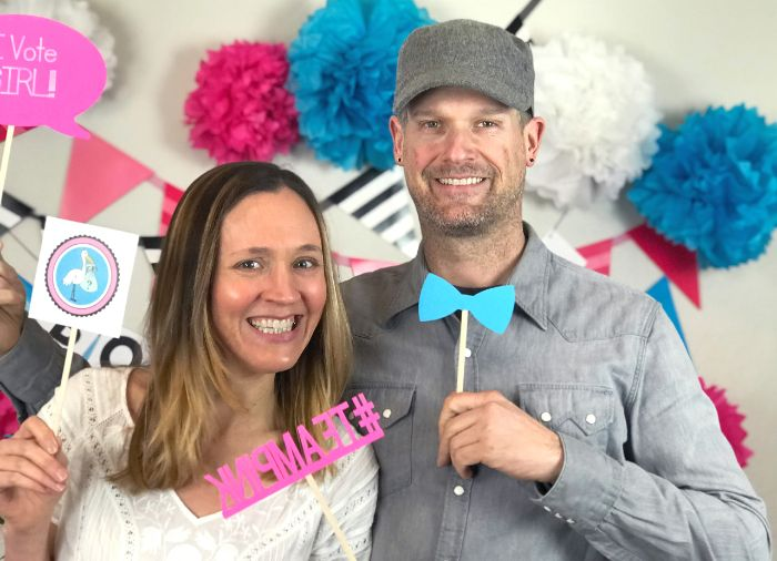 gender reveal photo booth banner