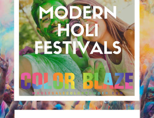 Modern Festivals With Holi Powder