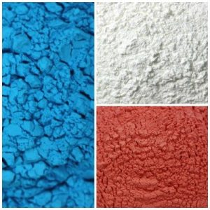 Color Powder Sample Patriotic