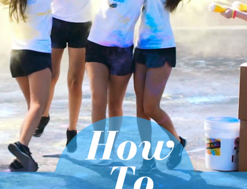 Throwing Color Powder tips for a Fun Run